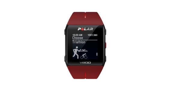 Polar V800 Javier Gomez Noya GPS-Sportuhr + H7-Sensor + CS Trittfrequenzsensor rot